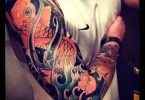 Trendy Full Sleeve Koi Fish Tattoo Design For Boys