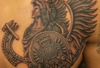 Passionate Aztec Tattoo On Chest For Boys