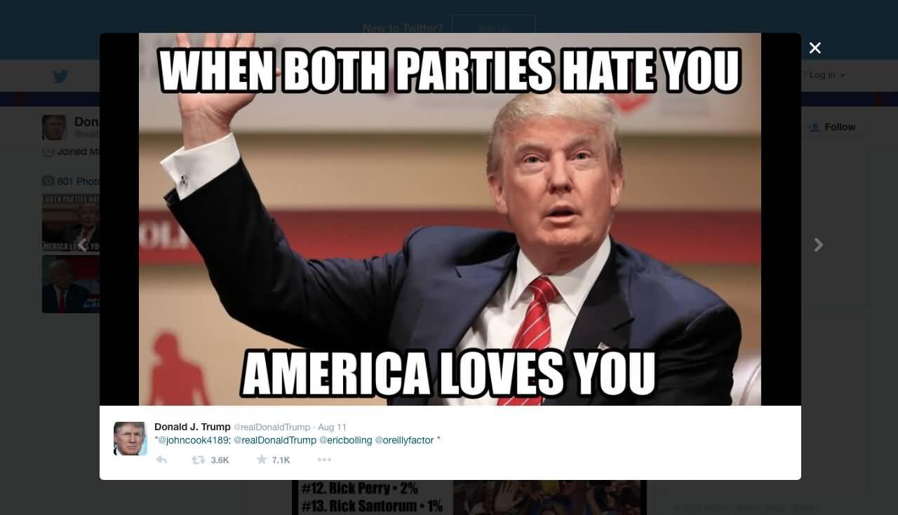 when both parties hate you Dank meme