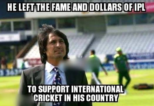 He left the fame and dollars of ipl to support Cricket Meme