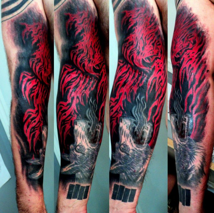 Coolest Fire Tattoos