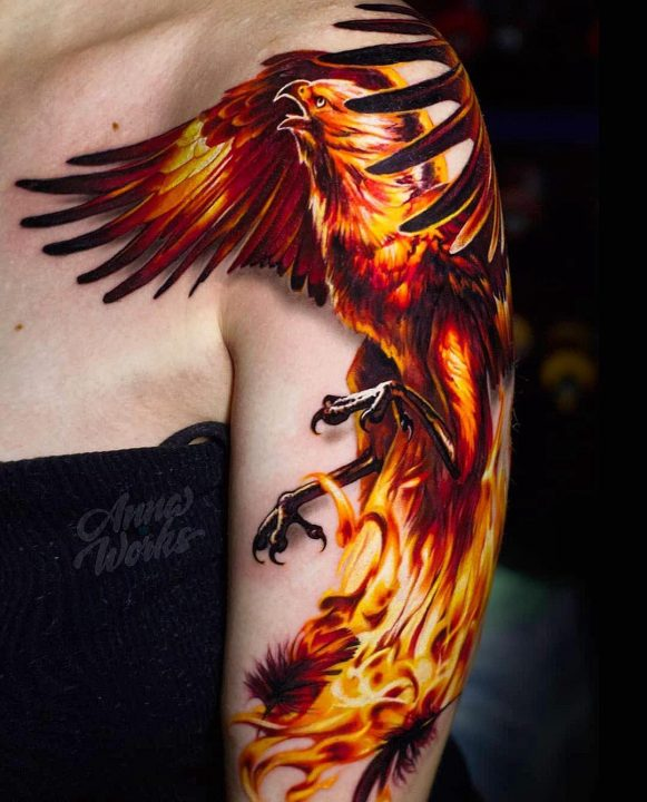 Creative Fire Tattoos