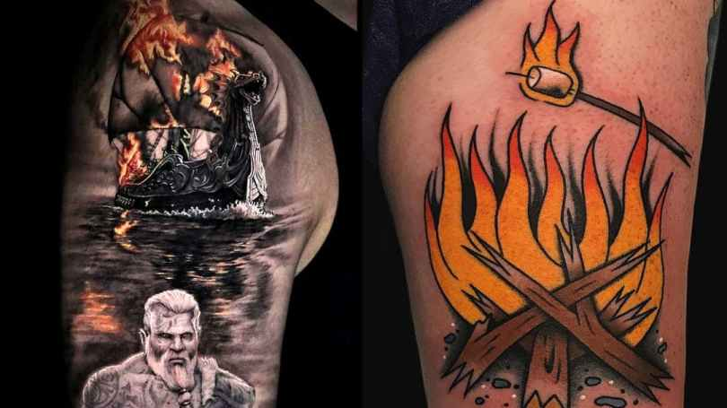 Mind Blowing Fire Tattoos