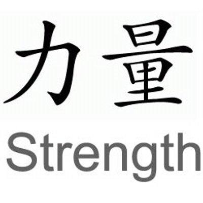 Nice Strength Symbol Tattoos