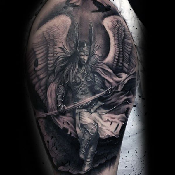 Valkyrie Tattoos Designs & Idea For Men's And Women's 0039