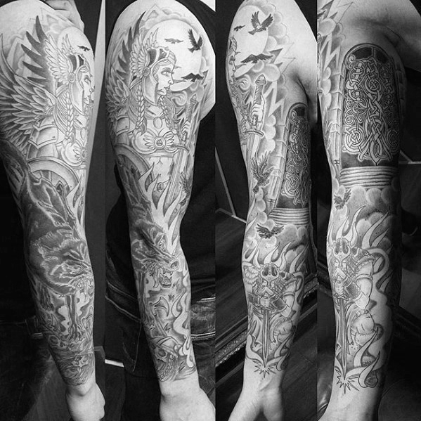 Valkyrie Tattoos Designs & Idea For Men's And Women's 0041