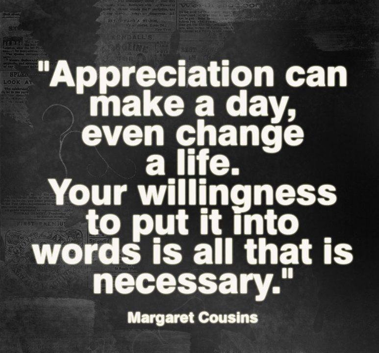 Appreciation Quotes appreciation can make a day