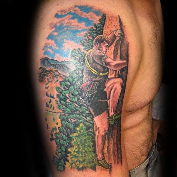 Climbing Tattoos Idea Designs for Tattoos Lover 10