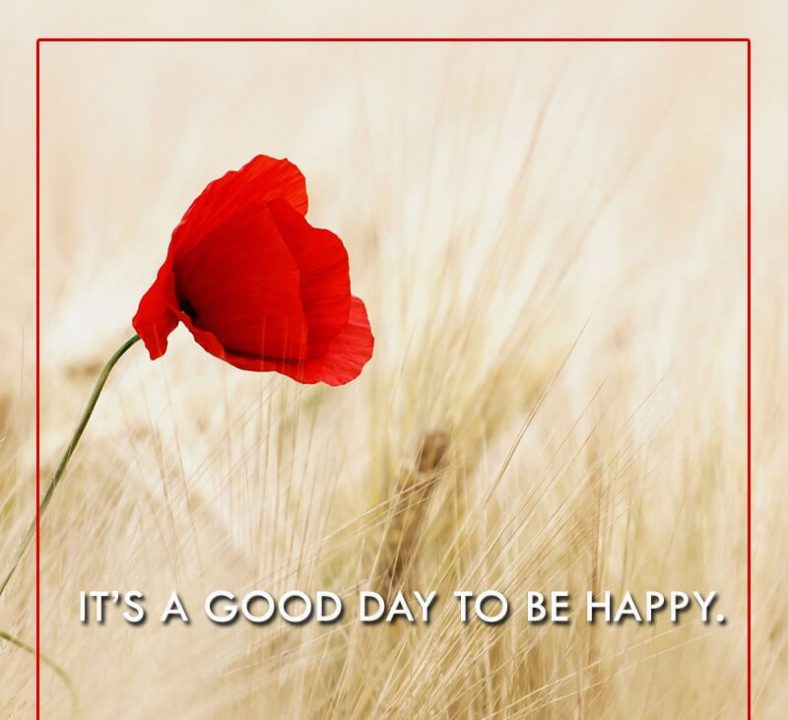 Happy Quotes it's a good day to be happy.