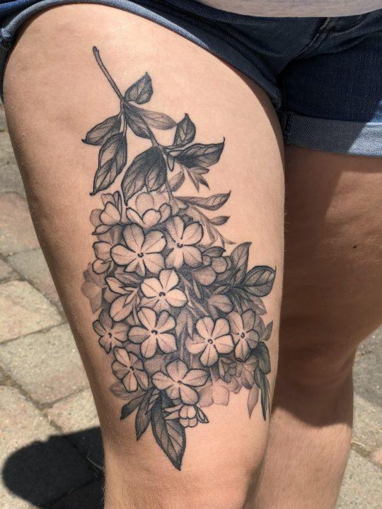 Hydrangea Tattoos And Hydrangea Tattoo For Boys & Girls 06