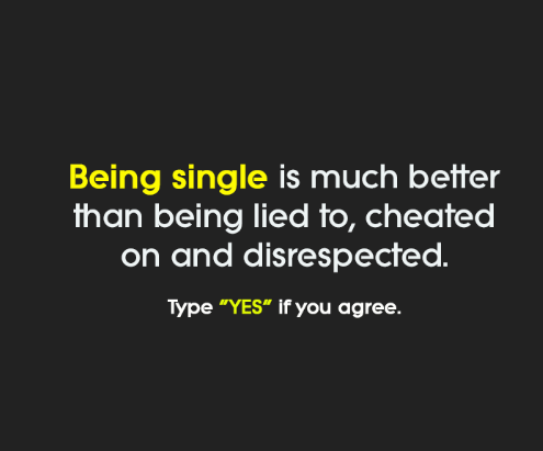 Cheating Quotes & Sayings being single is much better than being lied to