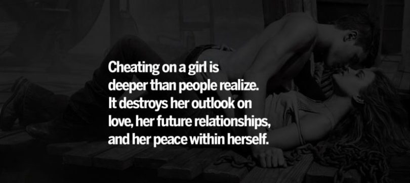 Cheating Quotes & Sayings cheating on a girl is
