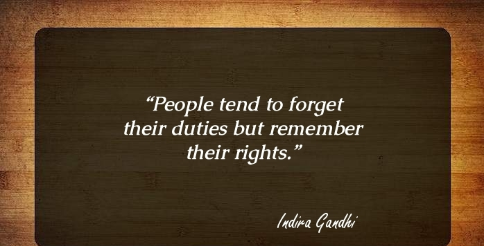 Citizenship quotes, Sayings And Quotations people tend to forget their duties but remember their rights