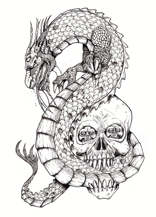 Dragon Skull Tattoos