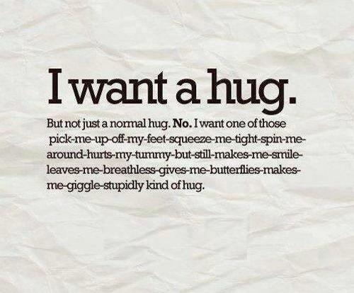 Hugging Quotations