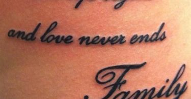 Short Family Quote Tattoos