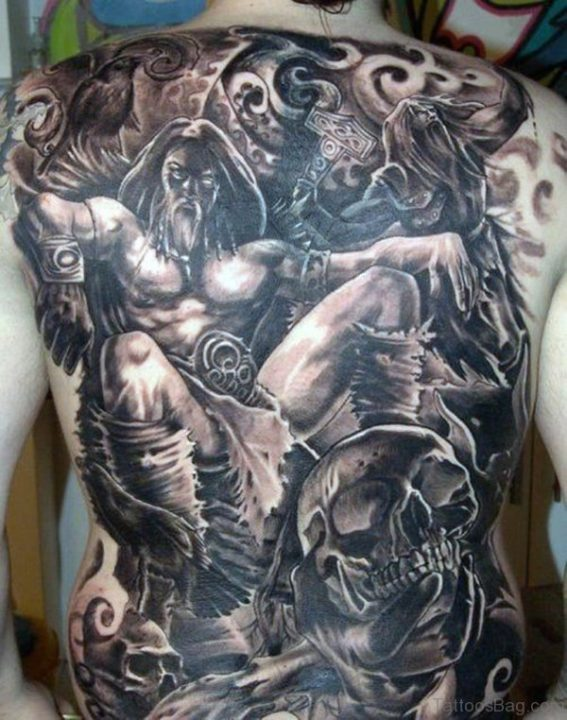 Alluring Back Tattoos For Boy's And Girls 02