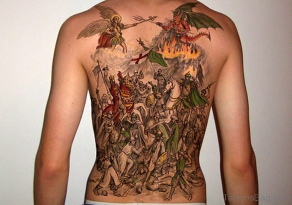 Alluring Back Tattoos For Boy's And Girls 09