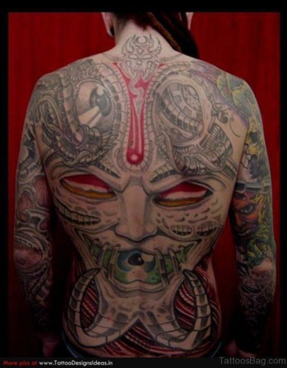 Alluring Back Tattoos For Boy's And Girls 24