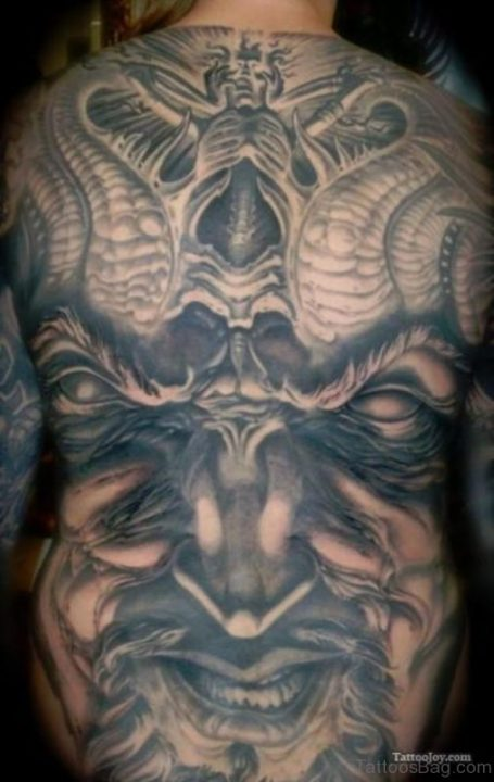 Alluring Back Tattoos For Boy's And Girls 36