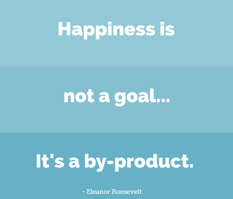 Happiness Quotes happiness is not a goal.. it's a by product.
