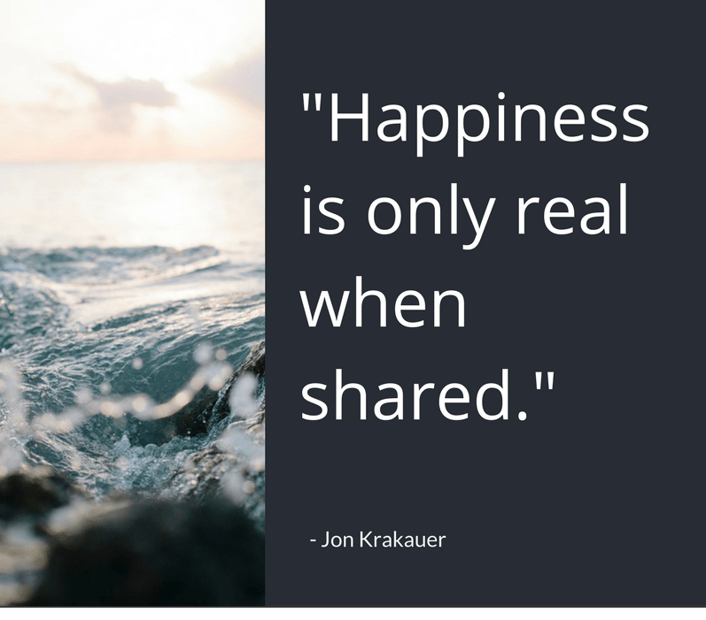 Happiness Quotes happiness is only real when shared