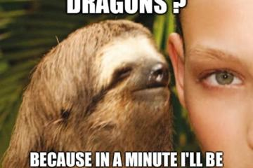 Funny Sloth Rape Meme Do You Like Dragons Because In A Minurte I'll Be Dragon My Balls All Over Your Face