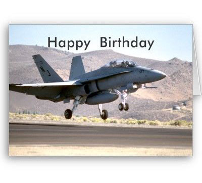 Happy Birthday Aeroplane With Air Force Birthday