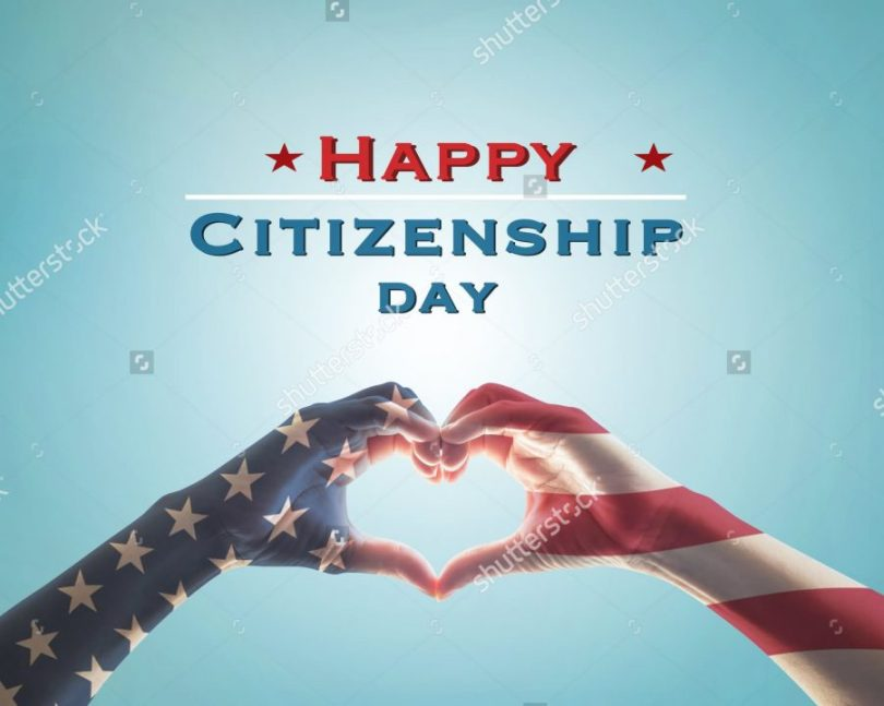 Happy Citizenship day With Beautiful Background