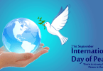 Lovely International Peace Day Greetings Message Pictures