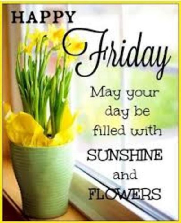 friday may your day be filled with sunshine and flowers