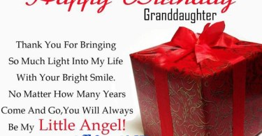 Happy Birthday To My Granddaughter Thank you for bringing so much light into