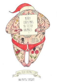 Merry Christmas Tattoos 01