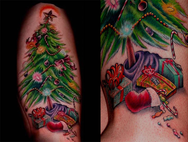 Merry Christmas Tattoos 06