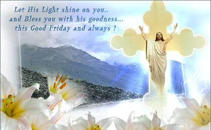 good morning wishes on friday let his light shine on your and