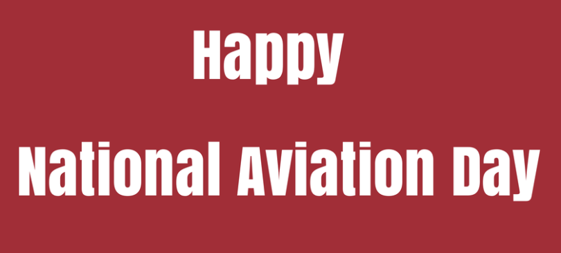 2019 Happy National Aviation Day With Red Background