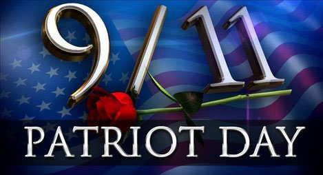 911 Patriot Day Wish With Rose red