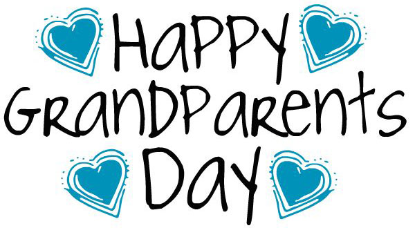 Happy Grandparents Day With Heart Blue Colour