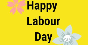 Happy Labour Day With Yellow Background