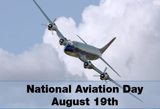 Happy National Aviation Day August 19th With Beautiful Sky