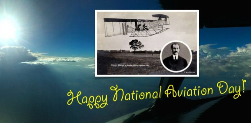 Happy National Aviation Day With Old Photo