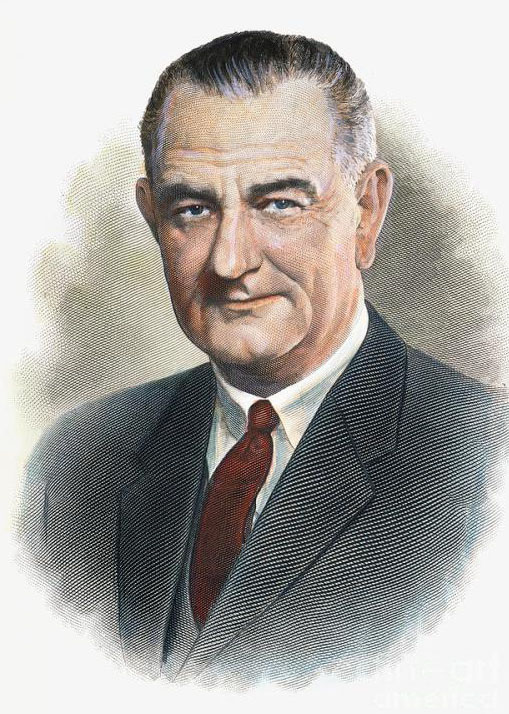 Lyndon Baines JOhnson Day With OLd Skech