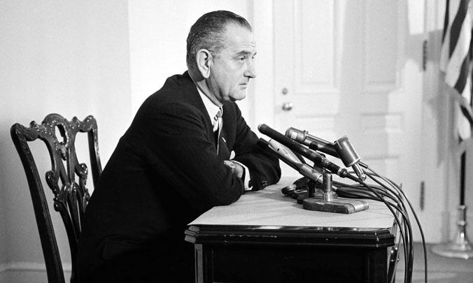 Lyndon Baines Johnson day With Speach