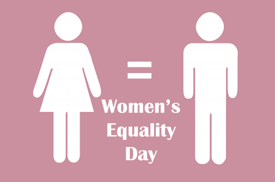 Women's and Boys Are equal Happy Women's Equality Day