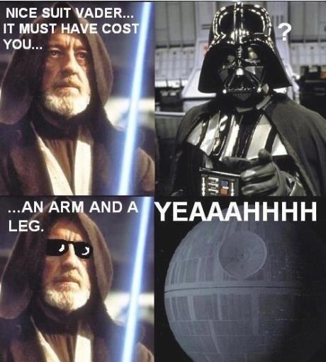 dank star wars memes nice suit vader it must have cost