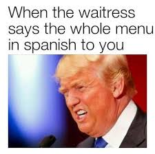 donald trump dank memes when the waitress says the whole