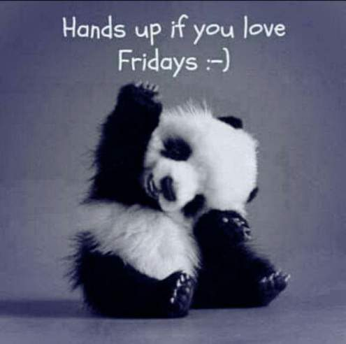 friday sayings hands up if you love friday
