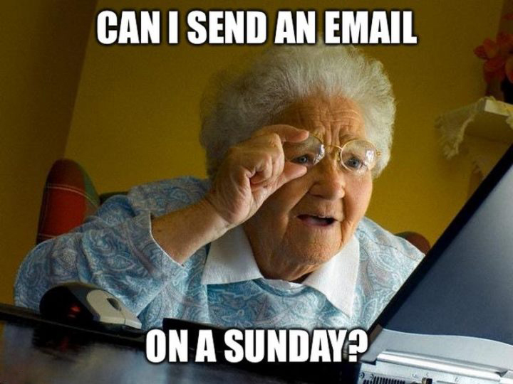 Can I Send An Email On A sunday