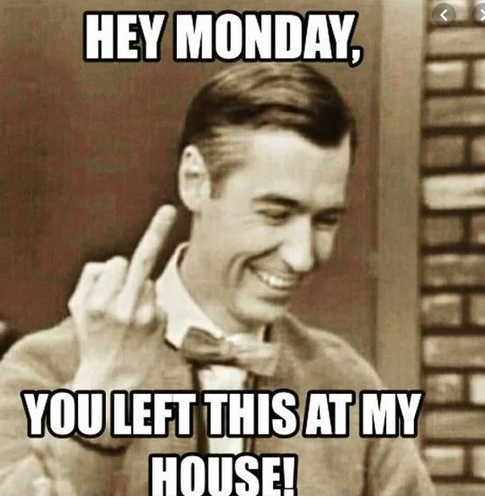 Creative Monday Memes Showing Middle Finger