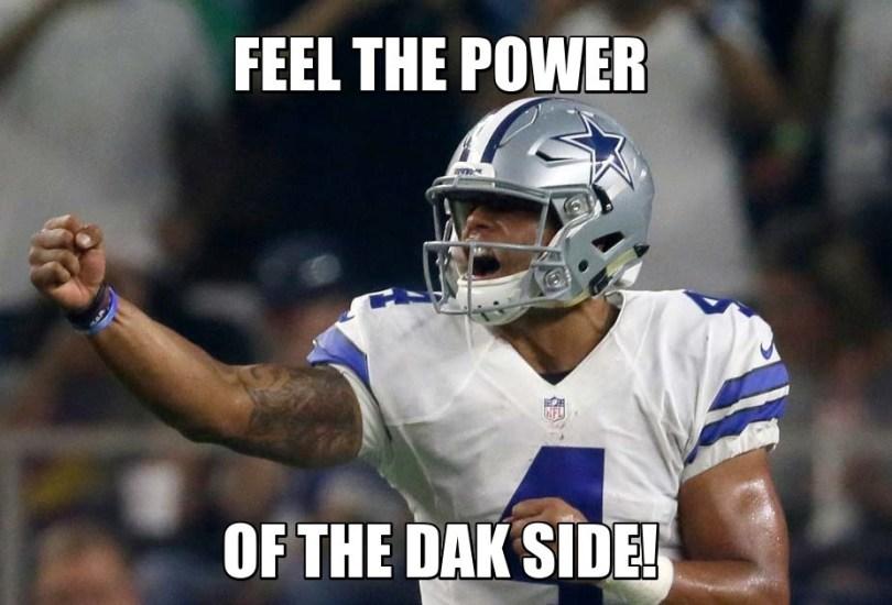 Dak Prescott Memes Feel The Power Of The Dak Side!